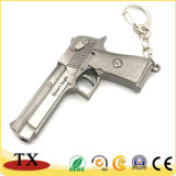 Metal moderno Pistola Revolver Glock Llavero modelo militar Llavero pistola