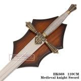 Espadas medievais HK668 110cm da decoração da espada de Swordsknight