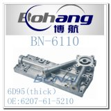 Tipo grueso cubierta del refrigerador de petróleo (6207-61-5210) de KOMATSU 6D95 del recambio del motor de Bonai