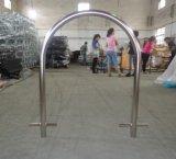 Aço inoxidável incorporado estilo U rack Suporte Bicicletas