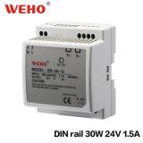 Der LÄRM Schienen-AC-DC LED Stromversorgung Modus-der Stromversorgungen-30W 24V 1.5A AC/DC 24V