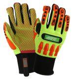 TPR Anti-Impact синтетическая кожа безопасности рабочие перчатки с точки