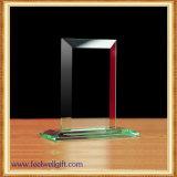 Trofeo cristalino de cristal en blanco de encargo