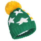 Зимние шапки смешивать цвета трикотажные акриловые большой POM Poms Beanies череп крышки