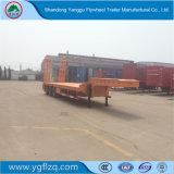 中国の製造の半頑丈な掘削機の輸送の3つの車軸が付いている低いベッドのトレーラー