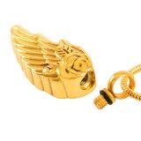 Heißer verkaufender Erinnerungsurne-Halsketten-Flügel-Entwurfs-Verbrennung-Anhänger