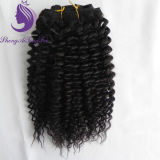 Kinky Curly humanly tie-clip in Hair Extension