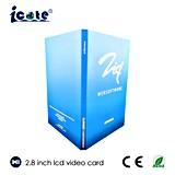 2.8 Zoll kundenspezifische LCD-videobroschüre, Videokarte