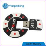 Poker Unidad flash USB con logo estampado