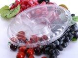 Einmaliges transparentes Kunststoffgehäuse-Gemüsetellersegment
