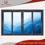De Aluminio recubierto de polvo de la puerta del panel deslizante con doble vidrio templado
