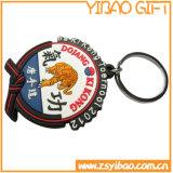 PVC suave Keychain del diseño lindo con la insignia modificada para requisitos particulares (YB-PK-10)