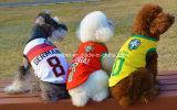 De Kleding van de Hond van het Huisdier van het Team van het Basketbal van de voetbal, de T-shirt van Honden