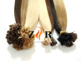 prodotti brasiliani pre legati dei capelli umani di Remy del Virgin di punta della cheratina del grado 7A