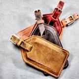 Cinta de couro da correia do Tag da bagagem do plutônio da forma da promoção do fornecedor de China