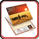 Impresión personalizada plegable de 3 mes calendario de pared