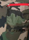 T-shirt d'impression du camouflage des hommes