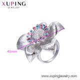 Los diseños de forma de flor Xuping Sawrovski cristales de señoras la moda Anillo de dedo
