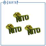 Insigne dur en bloc de Pin de revers personnalisé par chevilles en métal de revers d'émail