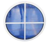 Doppeltes runde Form-örtlich festgelegtes Aluminiumglasfenster mit dekorativem Gitter
