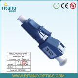 LC/APC Male-Female Optische Demper van de Vezel met 6.0mm Brede Sleutel