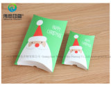 カスタム友好的なFoldableクリスマスはギフトの枕形の紙箱を砂糖で甘くする