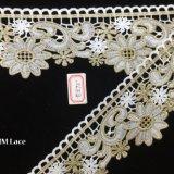 grand lacet de garniture de fleur de cosmos de 8cm, lacet de Venise pour les accessoires Hme870 de vêtement