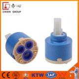 Nuevo toque de 35mm de alto flujo grifo cartucho cerámico con el distribuidor de la junta de doble cartucho cerámico de ralentí