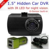 """1.5 """" cámara de rectángulo negro del coche de HD 1080P con el coche DVR, G-Sensor, visión nocturna, video DVR-1503 de la opinión trasera de Novatek 96223 de Digitaces de la rociada del coche del control que estaciona"""