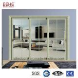 Porte coulissante en verre en aluminium de porte en aluminium de cuisine de modèle moderne