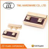 Blocage de 2 de boutons de rectangle en métal sacs à main de presse pour la bourse