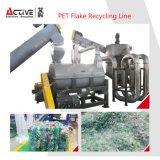 Пэт бутылки пластиковые перерабатывающая установка с автоматическим наклейки для снятия лака