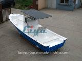 Barco del blanco del barco de pesca del barco del Panga de la fibra de vidrio de Liya los 7.6m