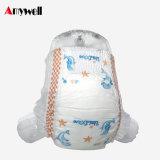 新しいデザインClothlikeのシンセンの通気性の着色された使い捨て可能な赤ん坊のおむつの卸し業者