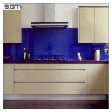 Cucina chiaramente verniciata laccata ferro basso Backsplash di vetro