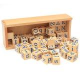 Madera bebé regalo Montessori letras Ortografía aprendizaje infantil juguetes educativos para niños