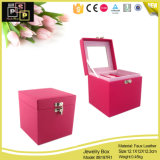 Red Fashion PU Leather Jewelry Packaging Storage Box (8197)
