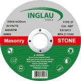 mola legata resina di 230X6.4X22.2mm per la pietra