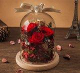 Il cristallo all'ingrosso del Yunnan ha conservato i regali del fiore della Rosa per il giorno di veterani
