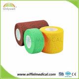 Fait en usine Hospital Medical cohésive Bandage de gaze de coton des rouleaux