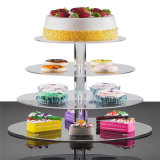 Support acrylique de gâteau de stand de gâteau de mariage de modèle moderne