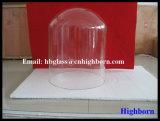 Campana de cristal del vidrio de cuarzo de la resistencia térmica