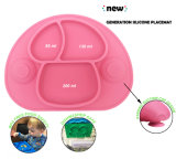 BPA освобождают, сейф судомойки, циновка Non-Slip, цельного младенца силикона подавая с 3 отсеками