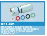 Rg59/6カラーバンドのためのFの圧縮のコネクター