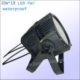 Для использования вне помещений 18X15W RGBWA LED PAR промойте лампа