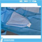 Устранимая стерильная мантия SMS Non-Woven хирургическая