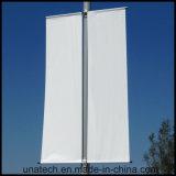 Stand d'image de signe de la publicité de medias d'affiche de Pôle de réverbère en métal (BT08)