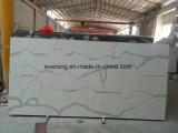 カウンタートップ、壁のタイルの&Vanityの上のための白い人工的な水晶石