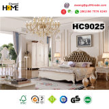 Sofá casero europeo del cuero 1+2+3 de los muebles fijado (HC803)
