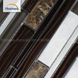 De hete Decoratieve Strook van de Badkamers van de Verkoop mengde het Bruine Mozaïek van het Glas